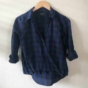 Madewell Lightweight Plaid collared shirt XXS